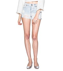 Silver Jeans Co. Distressed Detail Light Wash Shorts