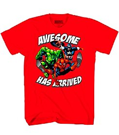 Marvel Heroes Boys' 8-20 Short Sleeve Awesome Has Arrived Tee