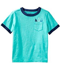 OshKosh B'Gosh Boys' 2T-5T Short Sleeve Ringer Surfboard Pocket Tee