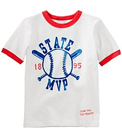 OshKosh B'Gosh Boys' 4-8 Short Sleeve State MVP Ringer Tee