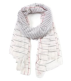 Calvin Klein Textured Striped Oversized Scarf