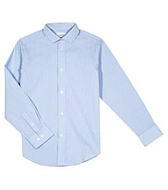 Calvin Klein Boys' 8-20 Gingham Shirt