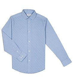 Calvin Klein Boys' 8-20 Check Print Shirt