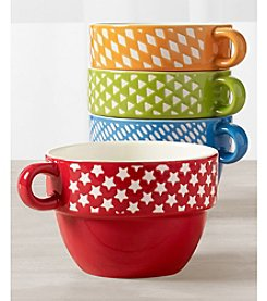 Tabletops Gallery 4-Piece Stacking Soup Mugs Set
