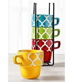 Tabletops Gallery 5 Piece Stacking Mug Set