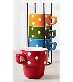 Tabletops Gallery 5-Pc. Stacking Mugs Set