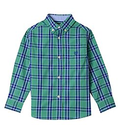 Chaps Boys' 4-20 James Woven Button-Down Long Sleeve Shirt