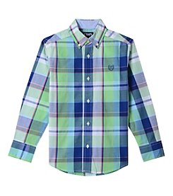 Chaps Boys' 4-20 Tyler Long Sleeve Woven Button Down Shirt