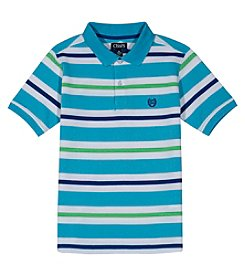 Chaps Boys' 4-20 Cabe Striped Polo Tee