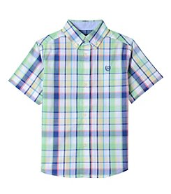 Chaps Boys' 8-20 Victor Short Sleeve Button Down Shirt