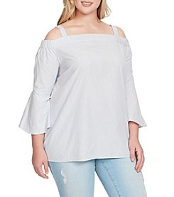 Jessica Simpson Plus Size Pauline Off Shoulder Striped Top