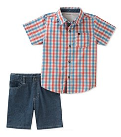 Kids Headquarters Boys' 2T-7 2-Pc. Woven Shirt And Shorts Set