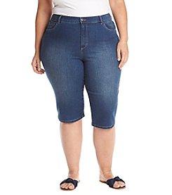 57eccb92e15 Gloria Vanderbilt Plus Size Embellished Pocket Cropped Jeans