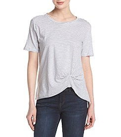 Hippie Laundry Stripe Knot Front Tee