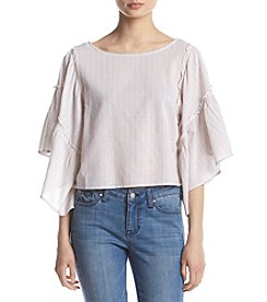 Hippie Laundry Stripe Flutter Bell Sleeve Top