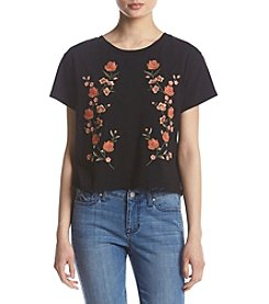 Hippie Laundry Floral Embroidery Detail Tee