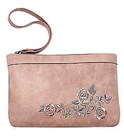 Ruff Hewn Floral Embroidered Wristlet