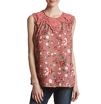 5f9322bb5 Skylar & Jade by Taylor & Sage Plus Size Mix Print Swing Tank |  Elder-Beerman