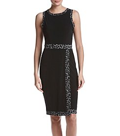 MICHAEL Michael Kors Faux Wrap Border Dress