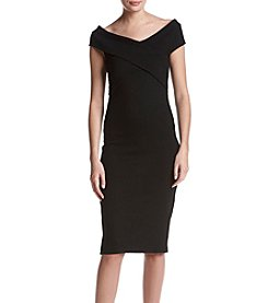 MICHAEL Michael Kors Cross Collar Rib Dress