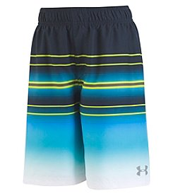Under Armour Boys' 2T-4T Galaxy Striped Volley Swim Trunks