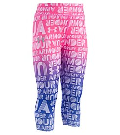 Under Armour Girls' 2T-4T Wordmark Capri Leggings
