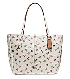 COACH MARKET TOTE WITH FLORAL BLOOM PATENT PRINT