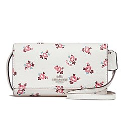 COACH PHONE CROSSBODY WITH FLORAL BLOOM PRINT