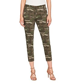 William Rast Camouflage Pattern Skinny Cropped Pants