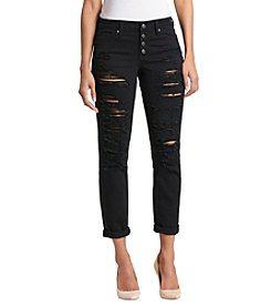 Black Daisy Distressed Detail Black Wash Best Friend Style Jeans