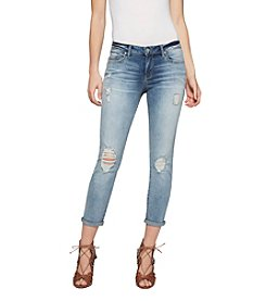 Jessica Simpson Distressed Detail Skinny Cropped Jeans