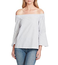 Jessica Simpson Off The Shoulder Popover Back Top