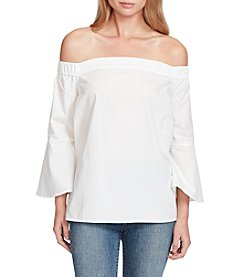 Jessica Simpson Off The Shoulder Back Popover Design Top