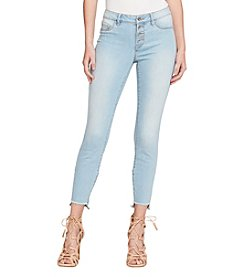 Jessica Simpson Light Wash Frayed Step Hem Skinny Jeans