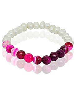 Stretch Pink Bead Bracelet