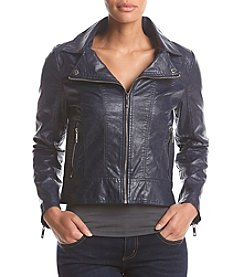 Tommy Hilfiger Zip Up Faux Leather Jacket