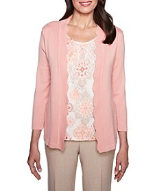 Alfred Dunner Medallion Two For One Sweater