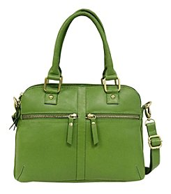Gal Leather Dome Satchel