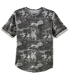 Distortion Men's Short Sleeve Camo Print Crew Tee