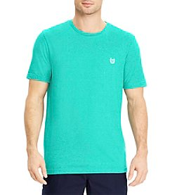 Chaps Men's Short Sleeve Solid Mock Twist Tee