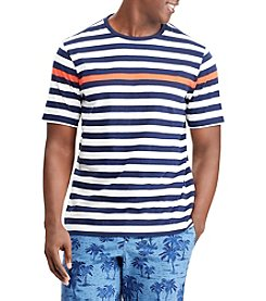Chaps Men's Short Sleeve Enginered Stripe Tee