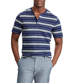 Chaps Men's Short Sleeves Engineered Stripe Henley