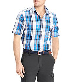 Chaps Men's Short Sleeve Stretch Woven Button Down