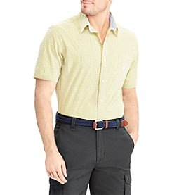 Chaps Men's Short Sleeve Non Stretch Woven Button Down