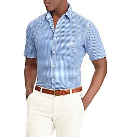 Chaps Men's Short Sleeve Checkered Button Down
