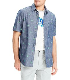 Chaps Men's Short Sleeve Embroidered Button Down