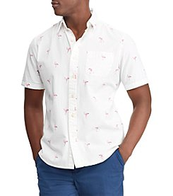 Chaps Men's Short Sleeve Woven Button Down