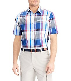 Chaps Men's Short Sleeve Outdoor Woven Button Down