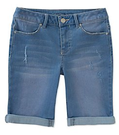 Calvin Klein Girls' 7-16 Bermuda Denim Shorts