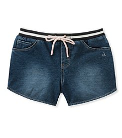 Calvin Klein Girls' 7-16 Knit Denim Shorts